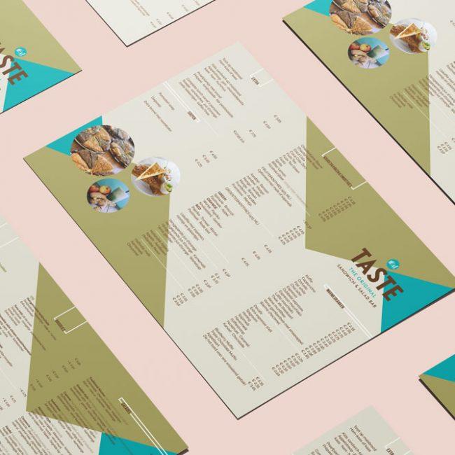 Studio steele menukaart ontwerp